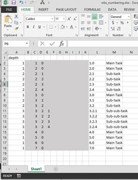 Outline (or WBS) Numbering in Excel without Macros | 67mi com